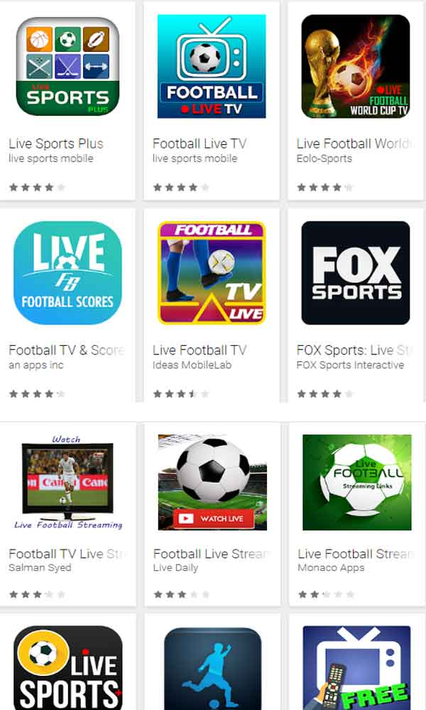top 10 live football streaming apps